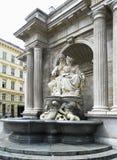 Allégorie baroque de fontaine du Danube à côté d'Albertina Photo stock