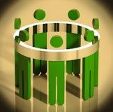 Allégorie d'équipe d'affaires. illustration libre de droits