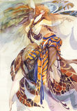 Allégorie d'oiseau de paradis illustration de vecteur