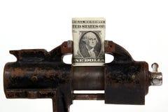 Allégorie de la crise financière globale Photo stock