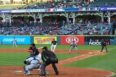 Allí a la vista Alonso, juego de Cleveland Indians Baseball fotos de archivo