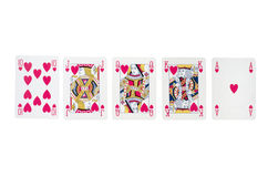 All in!. Poker hand - royal straight flush Royalty Free Stock Image