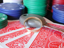 All In. Conceptual shot of putting it all in - all your poker chips, your car keys and your jewellery stock photo