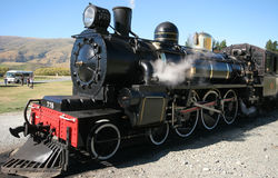 All aboard 3. Old Steam train in NZ stock images