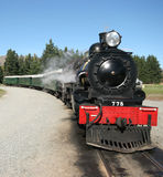 All aboard 4. Old Steam train in NZ royalty free stock image