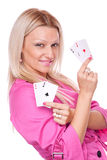All aces in my hand Royalty Free Stock Images