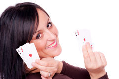 All aces in my hands Royalty Free Stock Photos