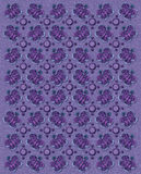 All Aflutter Lilac. Rows of butterflies and circles fill image.  Sponged background adds texture to lilac coloring Royalty Free Stock Images