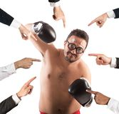 All against a person Royalty Free Stock Photography