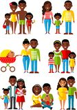 All age group of african american people. Generations man and woman. Royalty Free Stock Photography