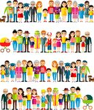 All age group of european people. Generations man and woman. Stock Images
