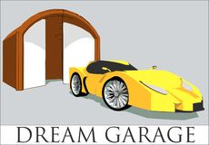 We are all allowed to have our dream car royalty free illustration