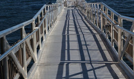 All Aluminum Welded Gangplank. An all aluminum, welded construction gangplank Royalty Free Stock Image