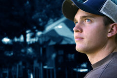 All American. Young man with a baseball cap Royalty Free Stock Photography