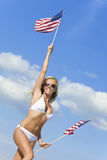 All American Beauty Stock Photo