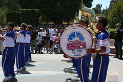 All American College Band. Performing in Disneyland in 2012 Stock Images