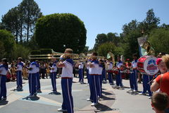 All American College Band. Performing in Disneyland in 2012 Royalty Free Stock Image