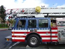 All American Fire Truck. Fire Truck from Station No. 1, City of Napa, California, City Name Removed Royalty Free Stock Photography