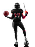All americans sports  football player  silhouette Stock Photo