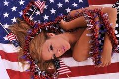 all amerikansk kvinna Royaltyfri Foto