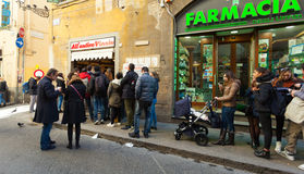 All`Antico Vinaio in Florence, Italy. Royalty Free Stock Photography