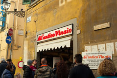 All`Antico Vinaio in Florence, Italy. Stock Photography
