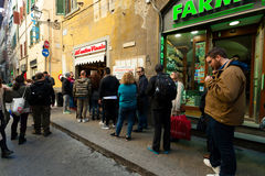 All`Antico Vinaio in Florence, Italy. Royalty Free Stock Photos
