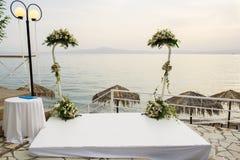 All'aperto altare di nozze Fotografia Stock