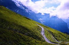 All'aperto nelle montagne Fotografie Stock Libere da Diritti