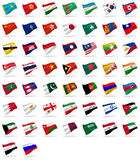 All asian flags Royalty Free Stock Photo