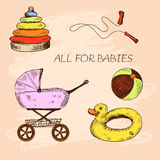 All for babies. Royalty Free Stock Images