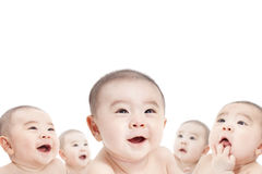 All baby are looking up Royalty Free Stock Image