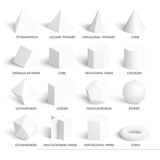All basic 3d shapes template Royalty Free Stock Photography