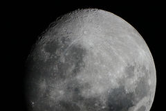 All the beauty of the moon Royalty Free Stock Image