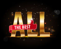 All the best motivational graphic for best wished Royalty Free Stock Photography