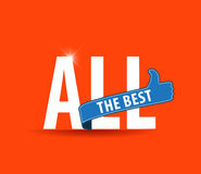 All the best motivational graphic for best wishes, good luck Royalty Free Stock Photography