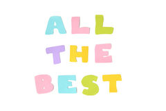 All the best text - isolated Royalty Free Stock Image
