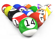 All billiard balls Royalty Free Stock Photography