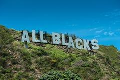 All Blacks - World Champions Royalty Free Stock Photo