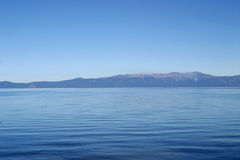 All Blue. The cool, blue waters of Lake Tahoe Royalty Free Stock Photos
