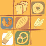 All about bread. Stylized description on different kinds of bread. *.eps format enclosed royalty free illustration