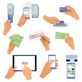All for business payments human hands holding Stock Image