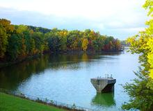 All is calm. Autumn lake in park royalty free stock photos