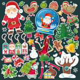 All Christmas symbols in one set! Stock Image