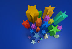All color stars Stock Photo