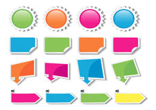 All colored sticker Royalty Free Stock Photos