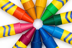 All Colors Together. Some color pencils forming a circle Royalty Free Stock Photo