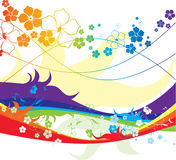All the colours of the rainbow. Illustration can be used for different purposes Stock Image