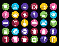 All for cooking icons kitchen ware icon set Stock Photos