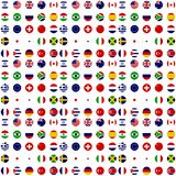 All country flag clip art. Small with white background Stock Photography